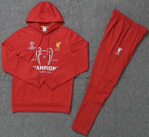 Liverpool 2019-20 Red Champions Hoodie Track Suit
