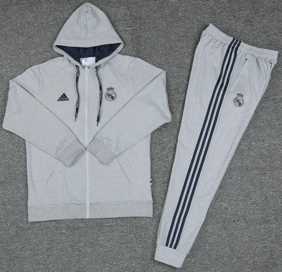 Real Madrid 2019-20 Grey Hoodie Track Suit
