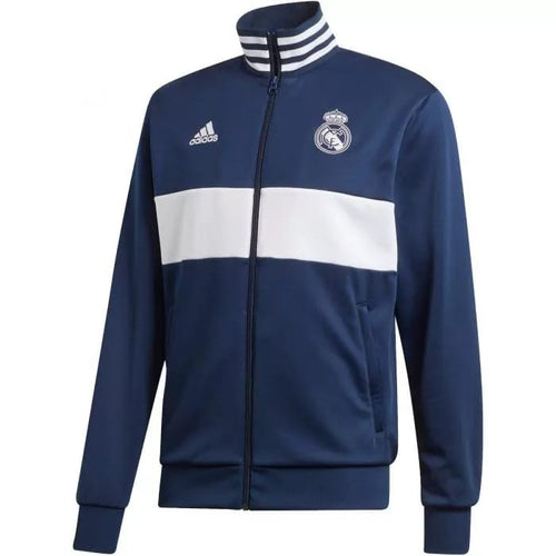 Adidas 2019-20 Real Madrid 3-Stripe Track Jacket - Navy-White