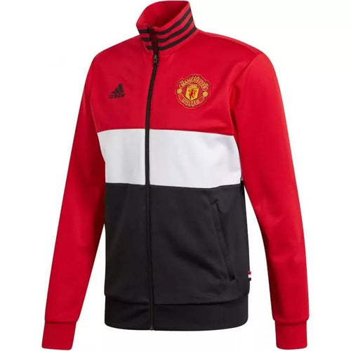 2019-20 Manchester United Track Jacket - Red-White-Black