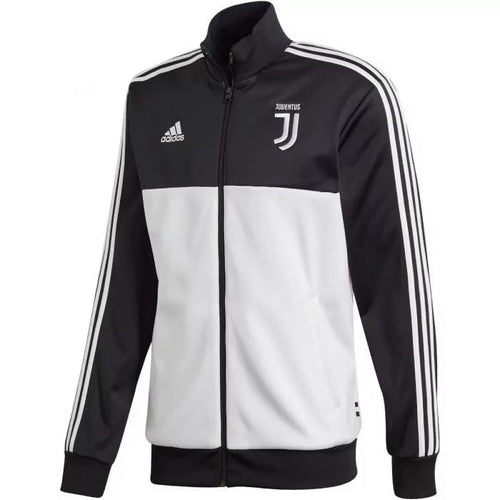 Adidas 2019 -20 Juventus 3 Stripe Track Jacket - Black-White