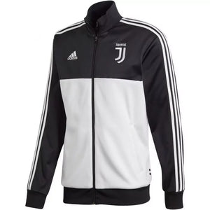 2019 -20 Juventus 3 Stripe Track Jacket - Black-White