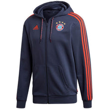 Load image into Gallery viewer, Adidas 2019-20 FC Bayern Full-Zip Hoodie - Navy-Red