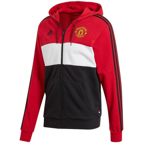 Adidas 2019-20 Manchester United Full-Zip Hoodie - Red-White-Black