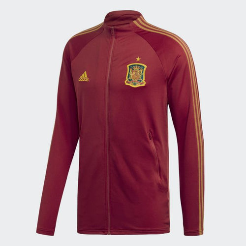 Adidas 2020-21 Spain Anthem Jacket - Red-Yellow