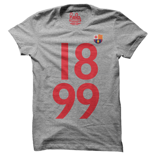 Barcelona Grey Fan T Shirt