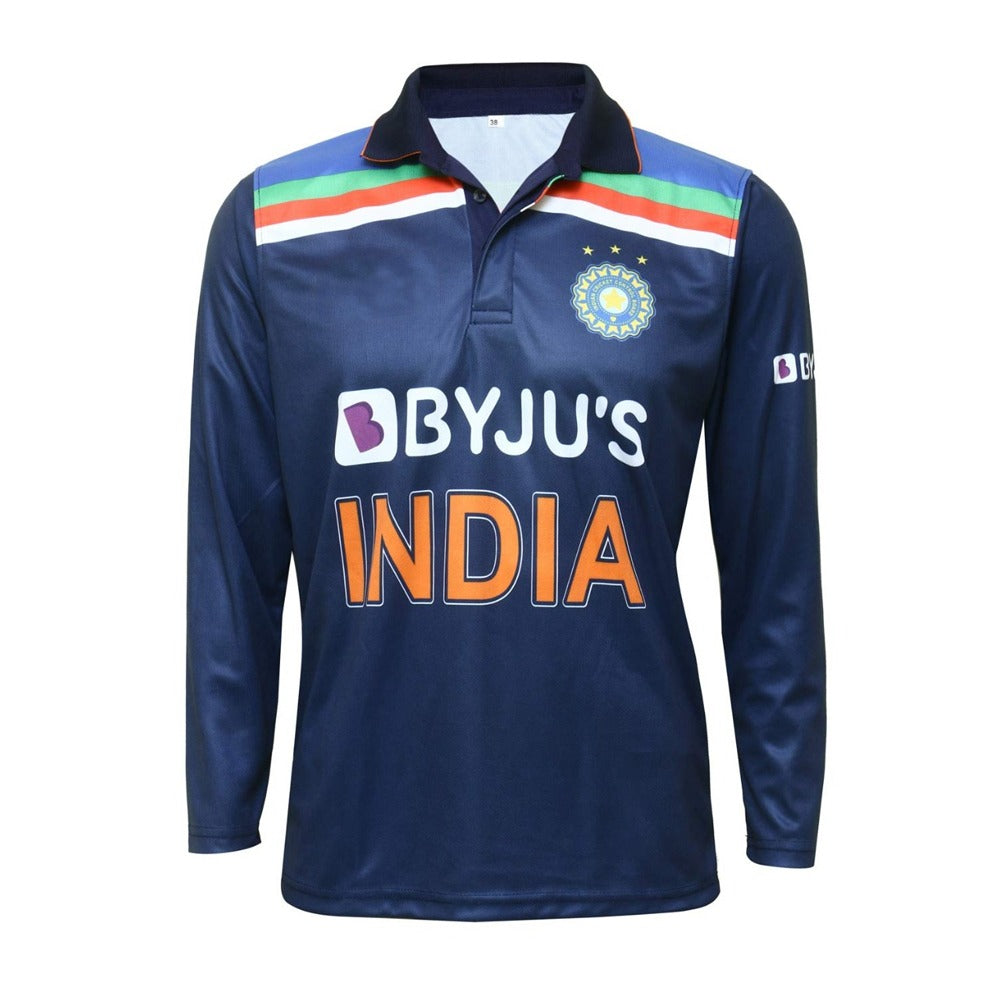 India Cricket Full Sleeves Jersey 2020/21 With Name & No.