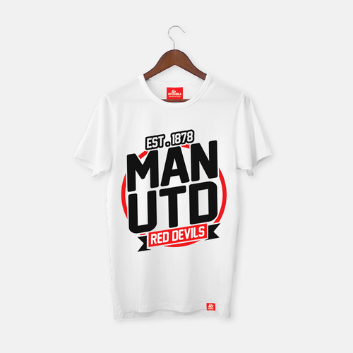 Man United Red Devils White Fan T Shirt
