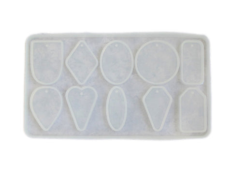 Clear silicone cabochon sheet mold - 10 cavity