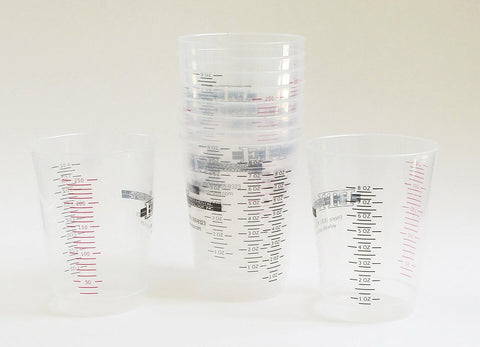 Large Graduated 10 ounce reusable resin plastic mixing cups - QTY 10
