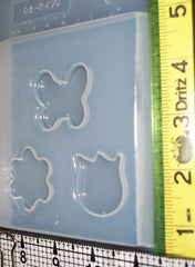 Butterfly and flowers mold 470