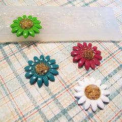 Four sunflower clear silicone mold