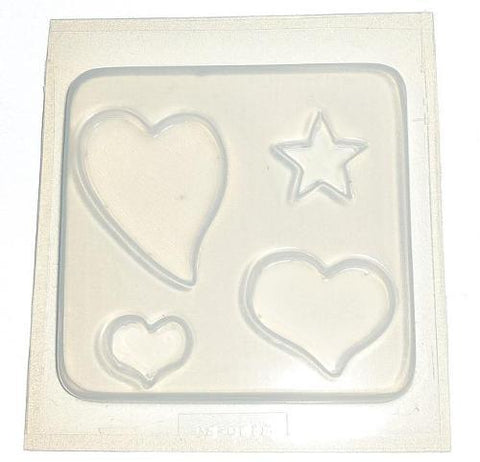 3 Hearts, 1 Star Mold 618
