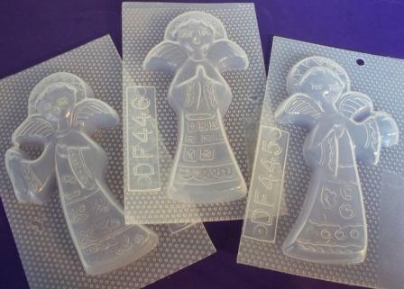 Angel Ornament Mold Set of 3