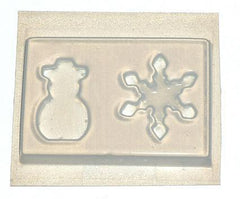 Snowman and Snowflake Resin Mold 449