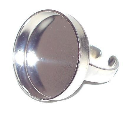 Silver Round Bezel Ring
