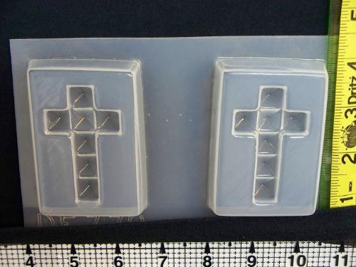 Square Faceted Holy Cross Mold 778 - 2 Cavity