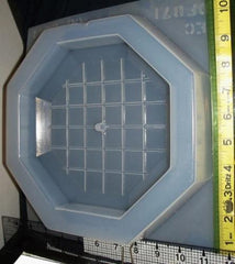 Square Grid Octagonal Clock Mold 871