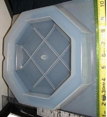 Square Grid Clock Mold 872