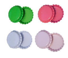 Two sided colored bottle caps 1 inch QTY 8