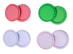Two sided bottle caps rolled flattened edge 1 inch QTY 8