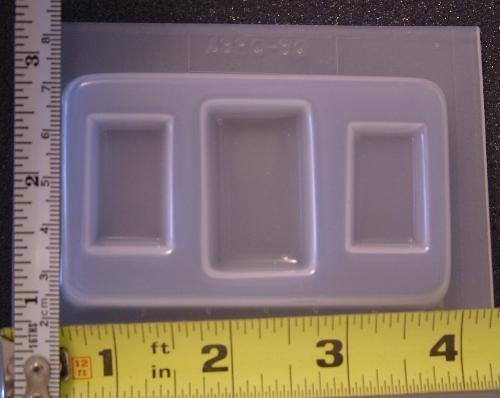 Cabochon jewelry set mold Rectangles 387 - 3 cavity