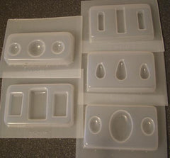 Cabochon jewelry mold sets 383 384 385 387 388 - set of 5