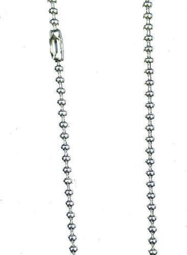 Silver plated ball chain 2.4 mm beads - 24 inch total length