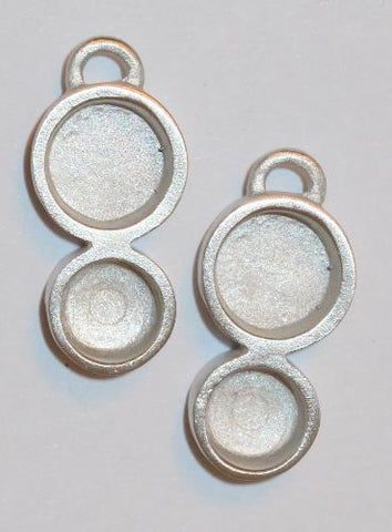 Double circle pewter bezels