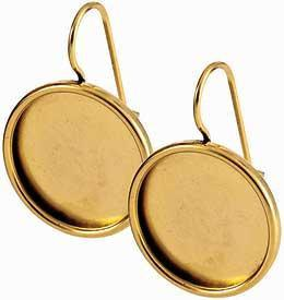 Earring Large Circle Gold