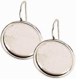 Earring Large Circle  Silver