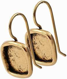 Earring Small Square Gold