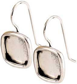 Earring Small Square Silver
