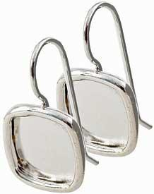 Earring Small Square Sterling Silver