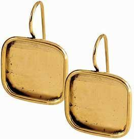 Earring Large Square Gold
