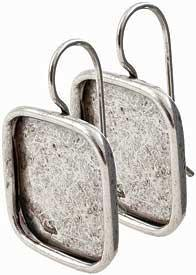 Earring Large Square Silver
