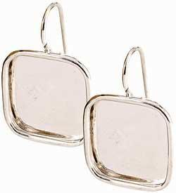 Earring Large Square Sterling Silver