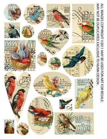1/2 Collage Sheet Birds