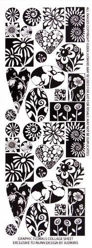 Collage Sheet-Graphic Florals