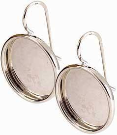 Earring large circle sterling silver