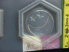 Moon and stars coaster mold 768