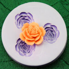 3 rose silicone mold