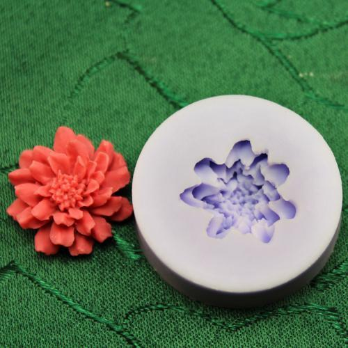 Chrysanthem style single flower mold