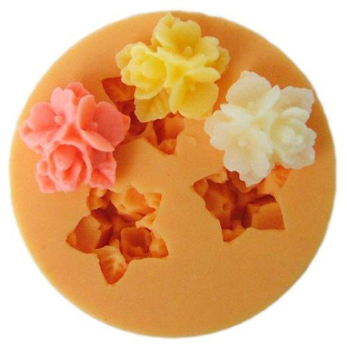 Small blossom 3 flower silicone mold
