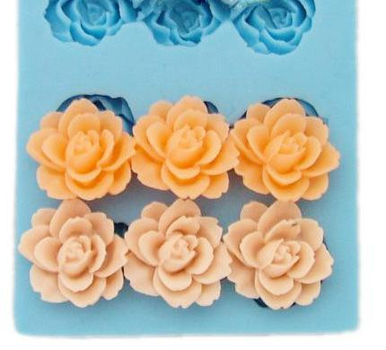3 flower mold for hairpieces