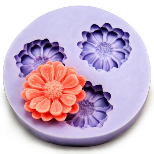 Daisy flower mold - 3 flowers