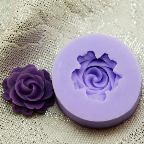 Single petal flower silicone mold