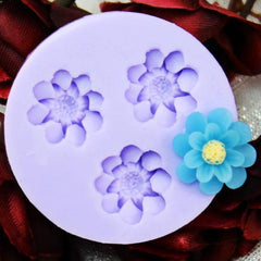 3 flower large petal daisy silicone mold