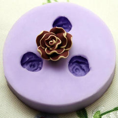 Open flower camelia like silicone mold