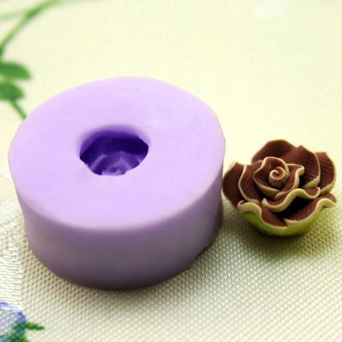 Single camelia flower silicone mold